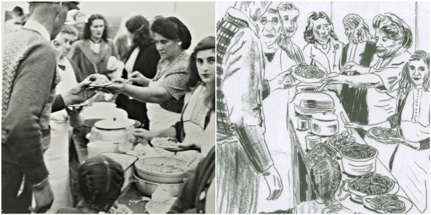 The Italian community backed the strikers and provided popular Friday night spaghetti dinners.