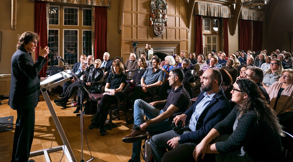 More than 150 students, colleagues, friends, and alumni gathered at the University Club to celebrate the donation of Henry Giroux's archive to McMaster University Library and to hear him talk about the state of democracy in the age of Donald Trump.