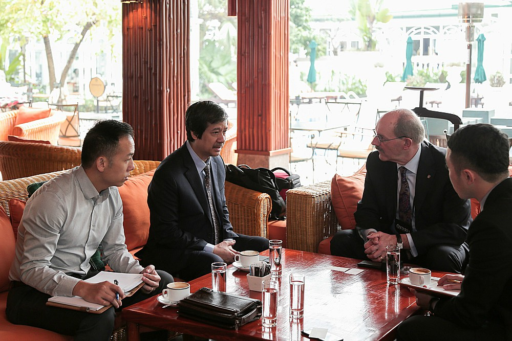 Mascher meets with representatives from Vietnam National University, Hanoi