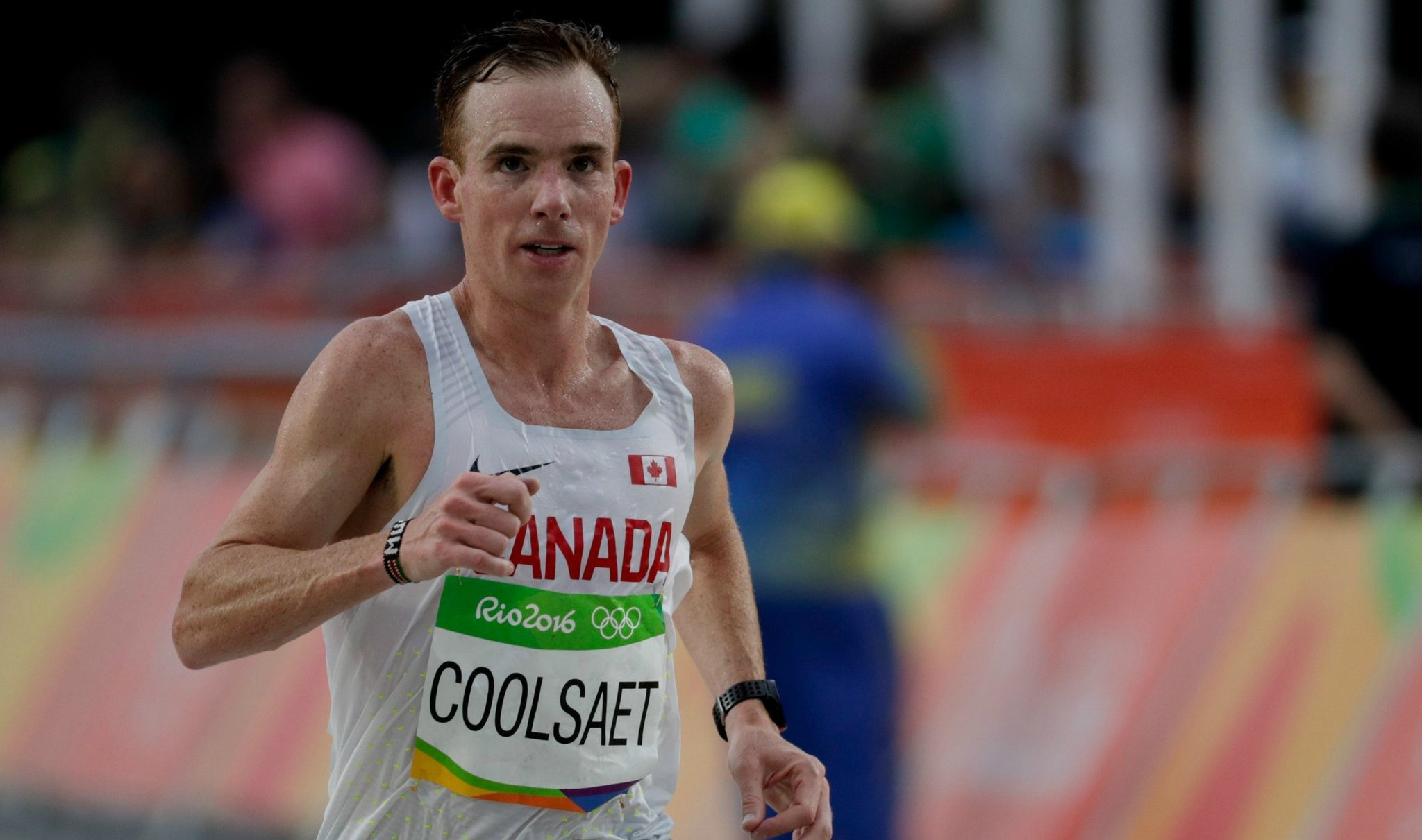 Reid Coolsaet runs the marathon at the 2016 Rio Olympic Games. When he broke a foot in 2008, a doctor told him to give up running.