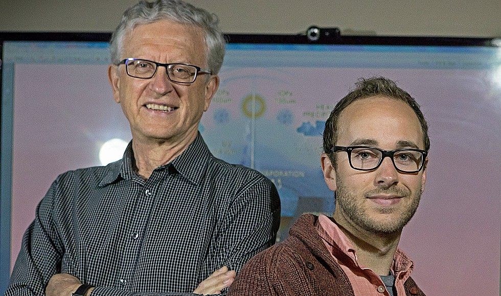 Ben K.D. Pearce and Ralph Pudritz, both of McMaster's Origins Institute and Department of Physics and Astronomy, were lead authors on the paper which suggests that the molecules making up first life appeared 4.2 billion years ago when meteorites splashed down and leached molecules, called nucleobases, into warm little ponds.