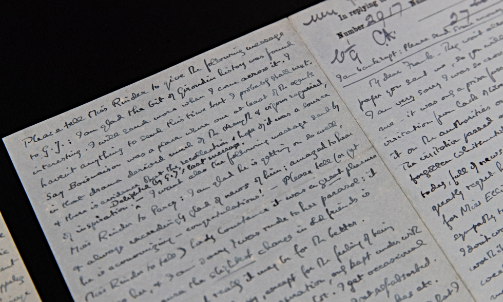 A letter written by Bertrand Russell while imprisoned in Brixton Prison.