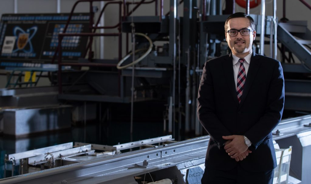 Josip Zic/Joe Zic, seen here at the McMaster Nuclear Reactor, is the university's new senior health physicist. JD Howell photo