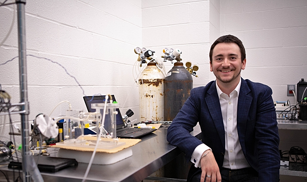 Oliver Wearing, a McMaster PhD student who is studying environmental physiology, is a recipient of a 2018 Vanier Graduate Scholarship.