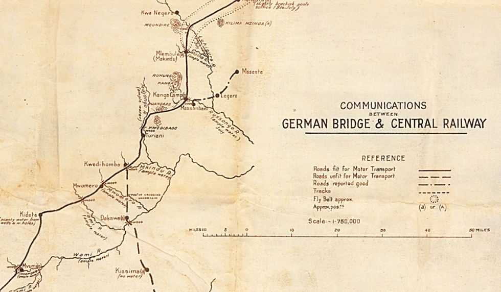 A rare map from McMaster's extensive World War One map collection is shedding light on the little-known German East Africa campaign where troops were more likely to die from disease than enemy fire, and which was fought in regions so remote, its soldiers were the last in the Great War to lay down their arms.