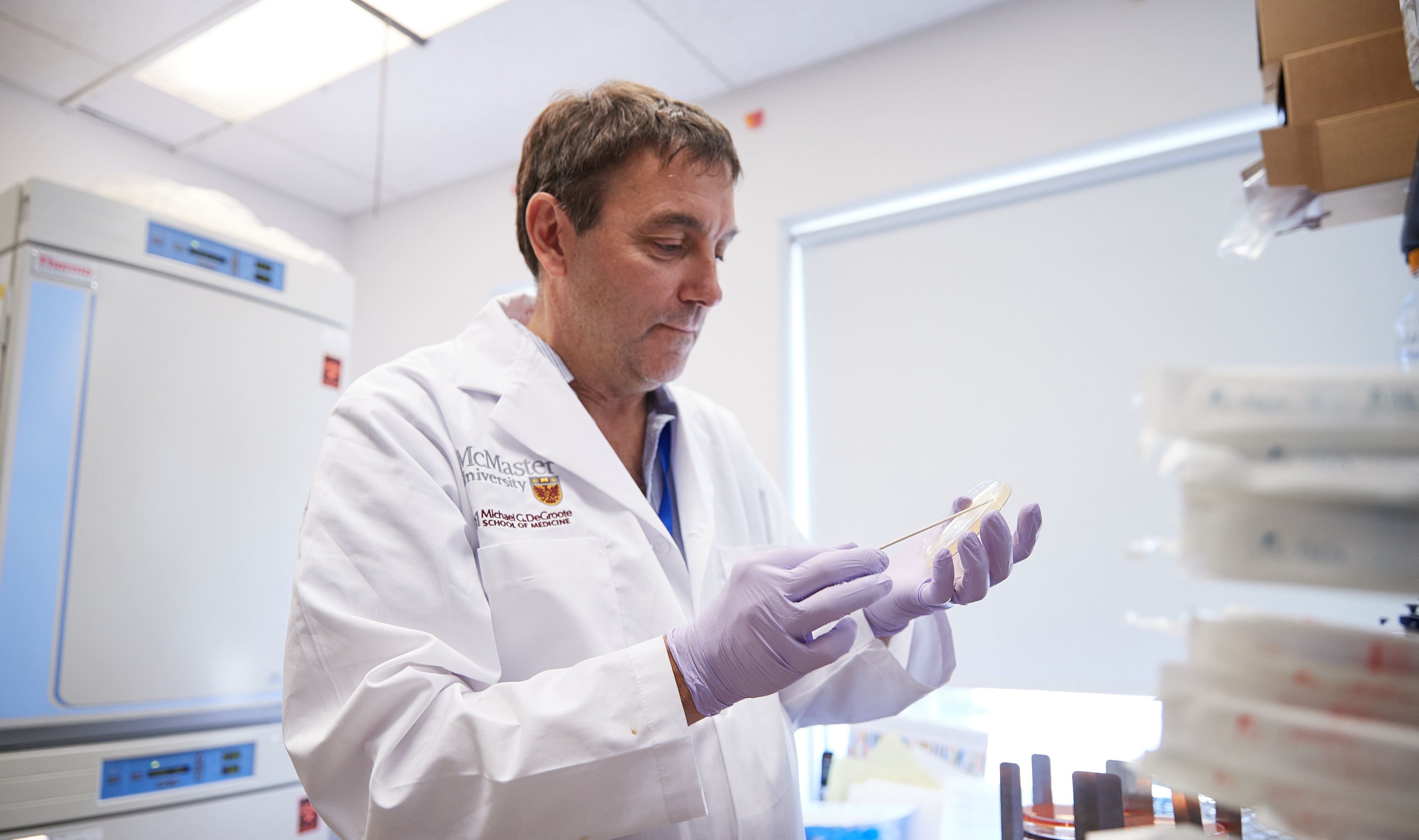 Michael Surette is the Canada Research Chair in Interdisciplinary Microbiome Research. He leads the Surette Lab in the Farncombe Family Digestive Health Research Institute. Photo by Kevin Patrick Robbins