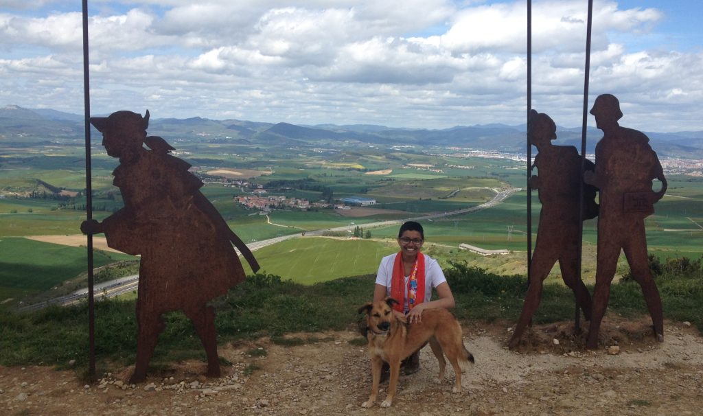 Fourth year anthropology and political science student Priya Moraes on the Camino de Santiago in Spain. Photo courtesy of Priya Moraes