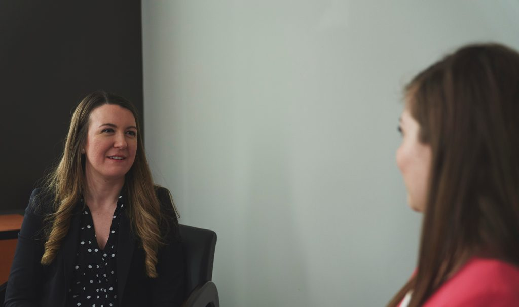 Kathryn Grandfield, left, an assistant professor in Materials Science and Engineering and Amanda Clifford, a PhD student, talk about women supporting women in STEM, International Women's Day and what sparked their passion for engineering. Photo from the Faculty of Engineering