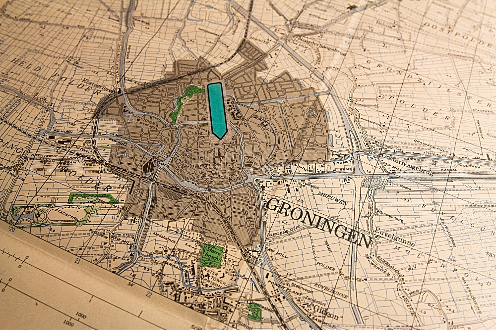 WWII-era map of Gronigen in the Netherlands