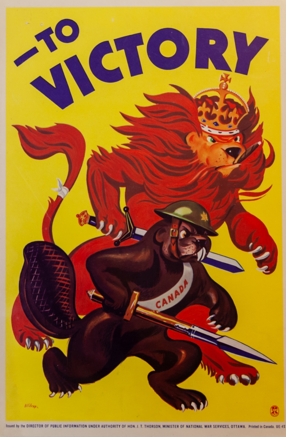 """To Victory"" poster, no. 41, Second World War poster collection"