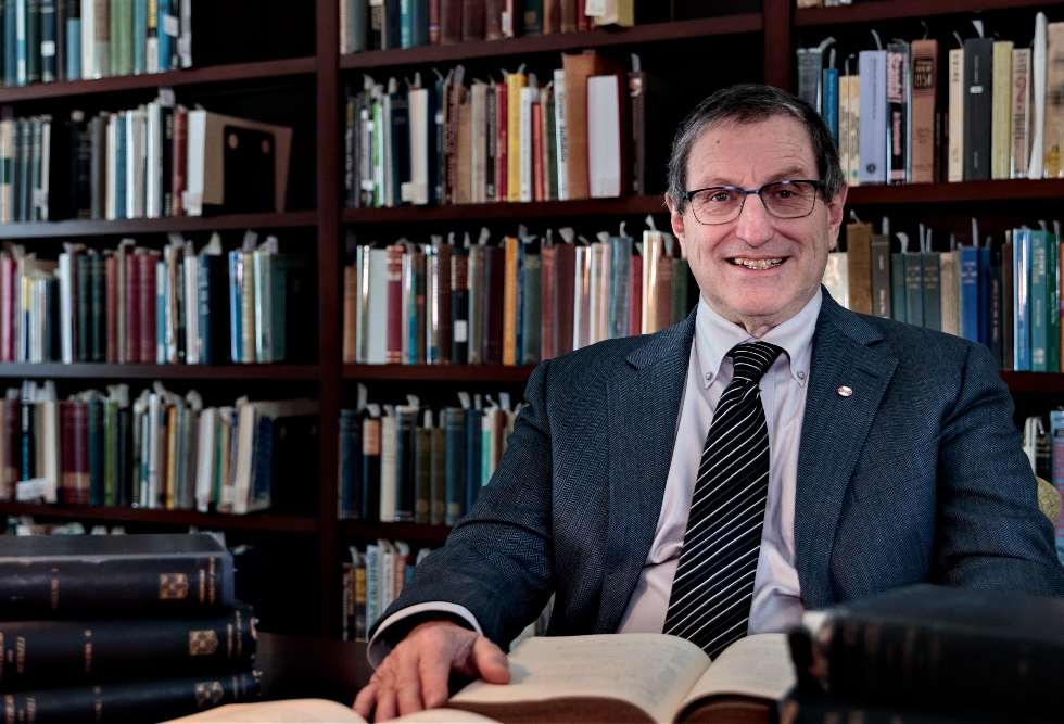 McMaster University Library has acquired the corrected proofs of Bertrand Russell and Alfred North Whitehead's highly influential three-volume work, Principia Mathematica, now publicly available for the first time thanks to a gift from philosophy professor and Russell scholar Bernard Linsky, pictured here.