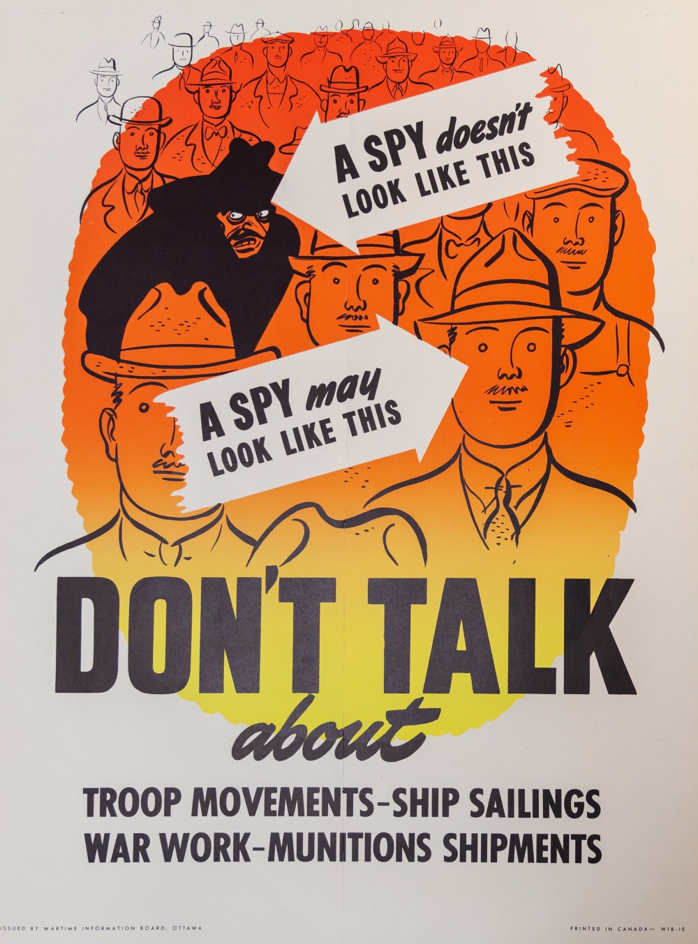"""Spies Don't Look Like This"" poster, no. C36, Second World War poster collection, c.1942"