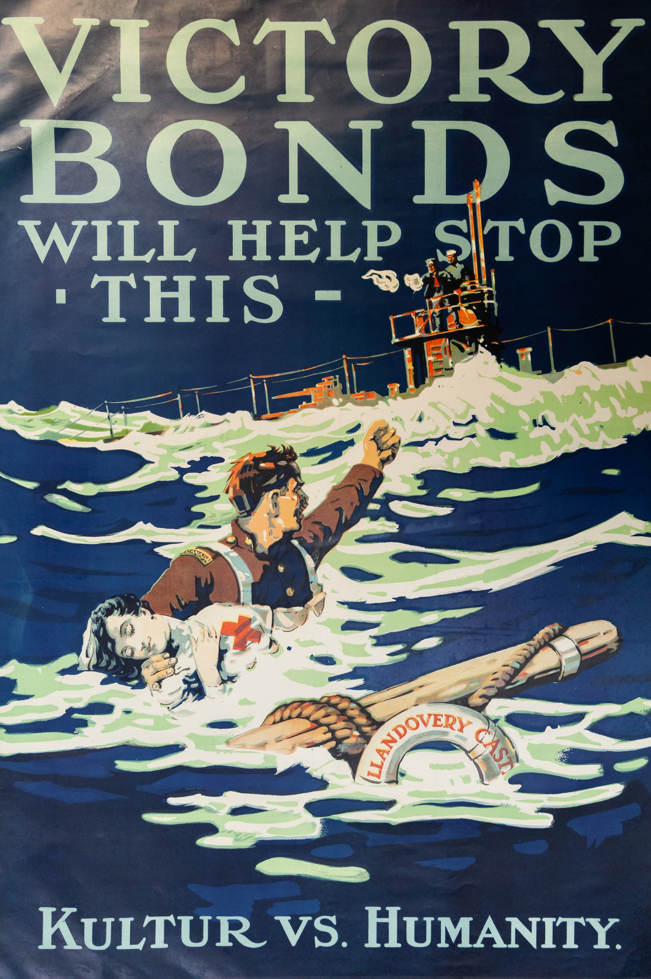 """Victory Bonds Will Help Stop This. Kultur Vs. Humanity"" poster, no.WP2, First World War poster collection"