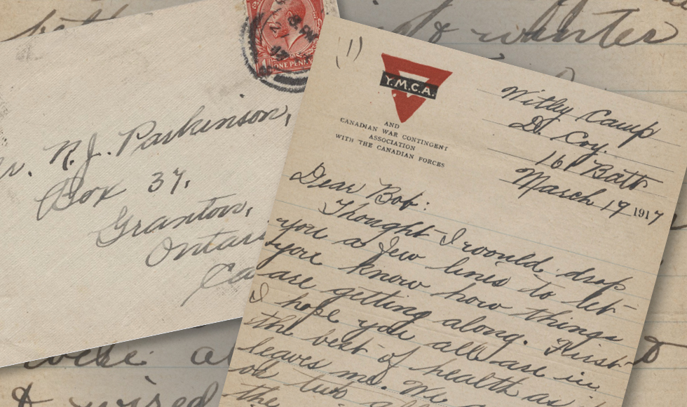 In 1917, Private Gordon Parkinson wrote home with news that he'd been quarantined due to an outbreak of mumps in camp. Now, a new transcription project is making this letter, and other historically significant items in the Library's digital archives, easier for scholars to find and use.