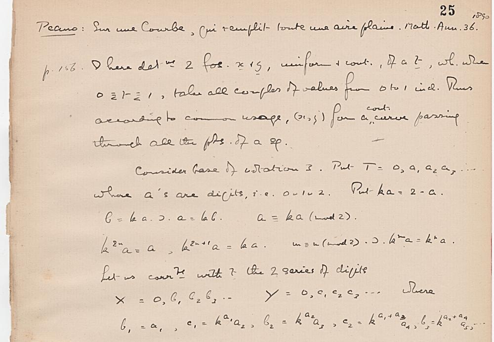 Notebook on mathematical articles, p. 27, Bertrand Russell fonds