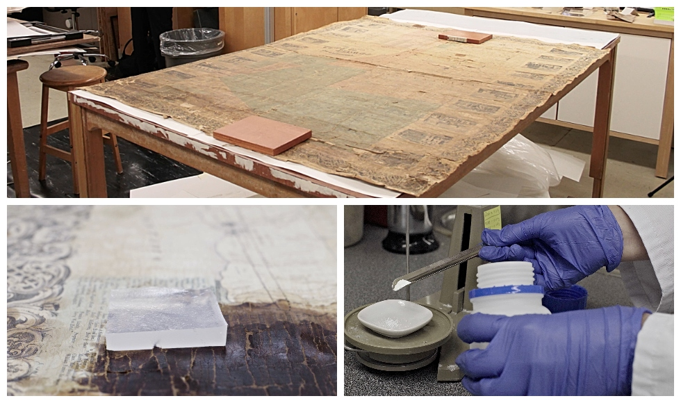 Thanks to funding from McMaster graduate, Elaine Campbell, McMaster University Library conservators have used new, experimental techniques to breathe new life into a rare 1859 map produced by famed map publisher George Tremaine.
