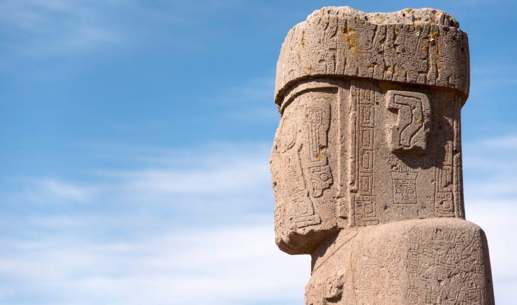A big beige blob of a monolith statue